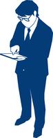 タブレットPCを操作するビジネスマン 60009000177| 写真素材・ストックフォト・画像・イラスト素材|アマナイメージズ