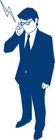 携帯で電話をするビジネスマン 60009000178| 写真素材・ストックフォト・画像・イラスト素材|アマナイメージズ
