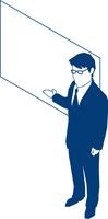 ボートを使いプレゼンするビジネスマン 60009000182| 写真素材・ストックフォト・画像・イラスト素材|アマナイメージズ