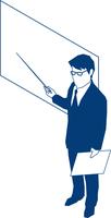ボートを使いプレゼンするビジネスマン 60009000184| 写真素材・ストックフォト・画像・イラスト素材|アマナイメージズ