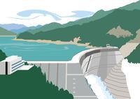富山の黒部ダム