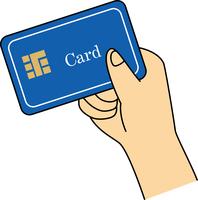 クレジットカード を持つ手