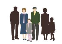 祖父母と孫娘