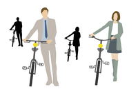 自転車通勤 60013000077| 写真素材・ストックフォト・画像・イラスト素材|アマナイメージズ