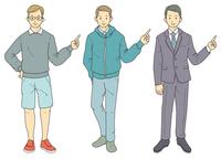 指差し-男性