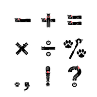 ネコ文字 記号(黒ネコ)