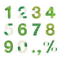 野菜文字 数字(緑黄色野菜)