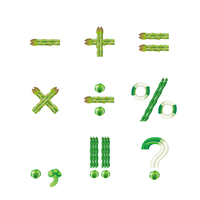 野菜文字 記号(緑黄色野菜)