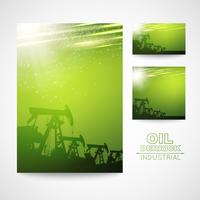 Pump Jack Oil Crane for your business card design. Vector illistration.