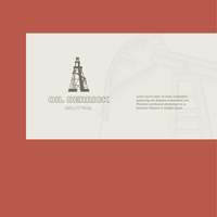 Oil rig card for your business. Vector illustration.