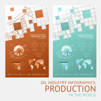 Oil infographic design with mosaic tile card. Vector illustration.