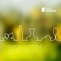 Style line design of vine glass, bottle and grapes. Vector illustration. 60016000522| 写真素材・ストックフォト・画像・イラスト素材|アマナイメージズ