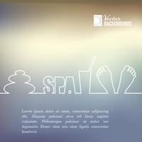 Spa elements of line design. Vector illustration.