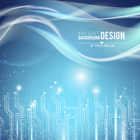 Abstract background of glow circuit. Vector illustration.