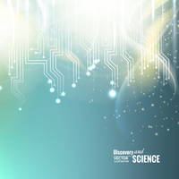 Abstract science background of glow circuit. Vector illustration.