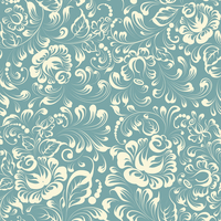 Khohloma style seamless floral pattern. Vector illustration.