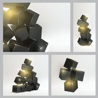 Set of magic boxes close-up over white background. 60016000769| 写真素材・ストックフォト・画像・イラスト素材|アマナイメージズ