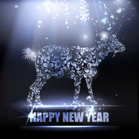 The goat - a new year symbol of 2015. Vector illustration.