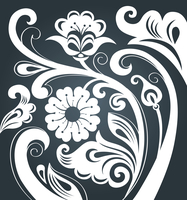 Floral ornament 60016000945| 写真素材・ストックフォト・画像・イラスト素材|アマナイメージズ