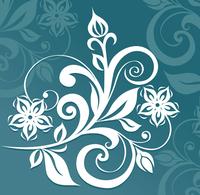 Floral ornament 60016000946| 写真素材・ストックフォト・画像・イラスト素材|アマナイメージズ
