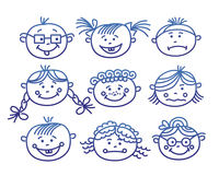 Baby cartoon faces