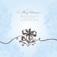 Christmas background with hand-drawn bells 60016001099| 写真素材・ストックフォト・画像・イラスト素材|アマナイメージズ