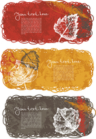 Autumn banners with leafs
