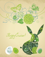 Background with Easter Rabbit