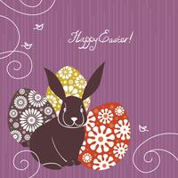 Background with Easter rabbit and eggs 60016001195| 写真素材・ストックフォト・画像・イラスト素材|アマナイメージズ