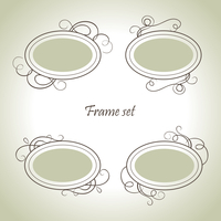 Set of vintage frames