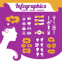 Fashion women's infographics
