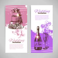 Wedding invitations. Banner set of vintage hand drawn wedding backgrounds 60016001317| 写真素材・ストックフォト・画像・イラスト素材|アマナイメージズ