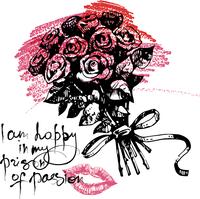 Valentine's Day hand drawn illustration 60016001393| 写真素材・ストックフォト・画像・イラスト素材|アマナイメージズ