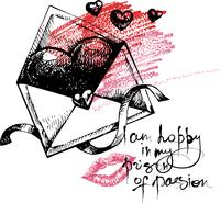 Valentine's Day hand drawn illustration 60016001394| 写真素材・ストックフォト・画像・イラスト素材|アマナイメージズ
