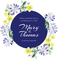 Save the date love card with watercolor floral bouquet. Wedding and Valentine�fs Day vector illustration