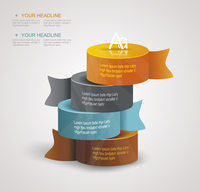 Vector pillars with your indicators, business infographics template.