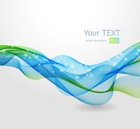 Vector illustration Abstract background with blue wave