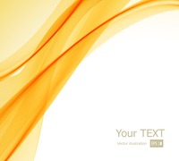 Vector illustration abstract orange, yellow and white background