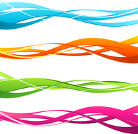 Vector illustration Set of wavy design elements