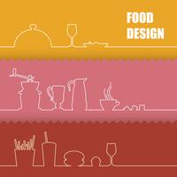 Set of flat design elements over colored backgrounds. Vector illustration. 60016001633  写真素材・ストックフォト・画像・イラスト素材 アマナイメージズ