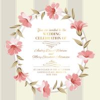 Wedding invitation card of color flowers. Vector illustration. 60016001637  写真素材・ストックフォト・画像・イラスト素材 アマナイメージズ