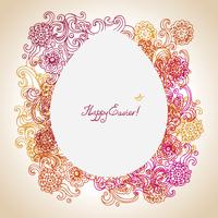 Easter floral background 60016001649  写真素材・ストックフォト・画像・イラスト素材 アマナイメージズ