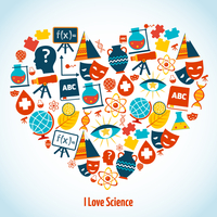 Education heart concept with science symbols vector illustration 60016001693| 写真素材・ストックフォト・画像・イラスト素材|アマナイメージズ