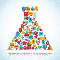 Science and education areas colored icons set in lab beaker shape vector illustration 60016001695| 写真素材・ストックフォト・画像・イラスト素材|アマナイメージズ