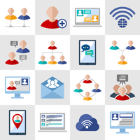 Global people communication social media network icons set isolated vector illustration 60016001736| 写真素材・ストックフォト・画像・イラスト素材|アマナイメージズ