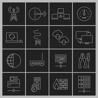 Network data security internet router outline icons set isolated vector illustration 60016001757| 写真素材・ストックフォト・画像・イラスト素材|アマナイメージズ