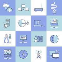 Network data security web technology flat line icons set isolated vector illustration 60016001758| 写真素材・ストックフォト・画像・イラスト素材|アマナイメージズ