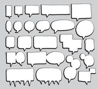 Vector speech bubbles set 60016001885| 写真素材・ストックフォト・画像・イラスト素材|アマナイメージズ