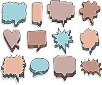 Color set of vector speech bubbles 60016001886| 写真素材・ストックフォト・画像・イラスト素材|アマナイメージズ