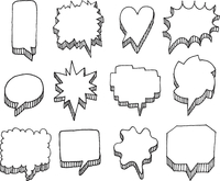 Set of vector speech bubbles with volume 60016001887| 写真素材・ストックフォト・画像・イラスト素材|アマナイメージズ